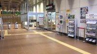 北海道新幹線・奥津軽いまべつ駅で流れる「雲のむこう、約束の場所」メインテーマ。(動きなし・ブレ・音の小ささ等はひらにご容
