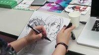 """「ALL OUT!!」作者の雨瀬シオリさんをゲストに迎えた本日の""""おしごと説明会""""終了後…色紙を描いていただきました!は"""